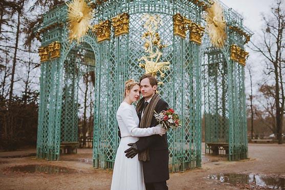 Hochzeit im Standesamt Rathaus Potsdam und Hochzeitsportraits im Schlosspark Sanssouci Hochzeitsfotograf © www.henninghattendorf.de