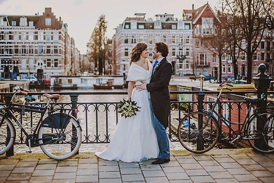 Hochzeit in Amsterdam in Holland Hochzeitsfotograf © www.henninghattendorf.de