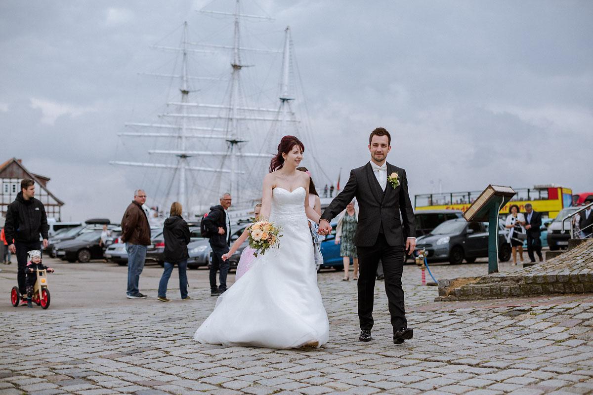Hochzeitsfotograf Stralsund Segelschiff Gorch Fock